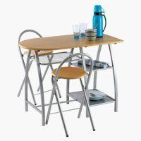 Asztal VEJSTRUP + 2 VEJSTRUP szék