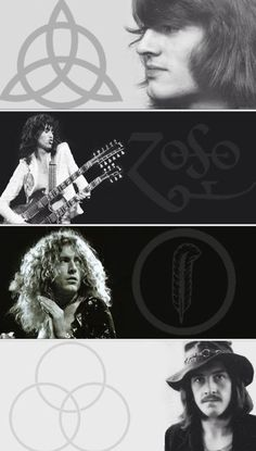 The amazing Jimmy Page, the multi-talented John Paul Jones, the gold god Robert Plant, and the beast John Bonham of Led Zeppelin! Jimmy Page, Great Bands, Cool Bands, Led Zeppelin Symbols, Led Zeppelin Tattoo, Led Zeppelin Art, Heavy Metal, Rock And Roll, Beatles