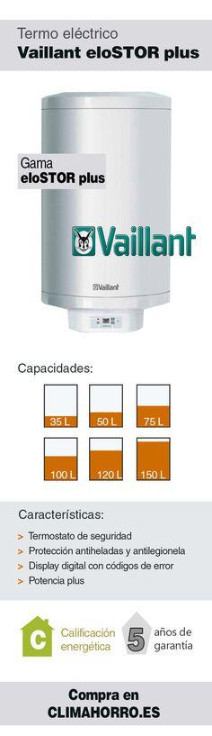 Termo eléctrico Vaillant EloSTOR Plus  Consulta todas las características y compra online en ClimAhorro.