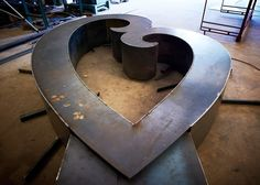 The form of the Mother's Love sculpture takes shape in the studio of Ted Voss Metals located in San Antonio, Texas.