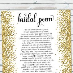 Meet the maids have the bridesmaids write a little something about bridalpoemgamebridalshowerpointspoem m4hsunfo