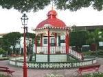 Velas, Jardim da República, Coreto, ilha de São Jorge, Açores, Portugal