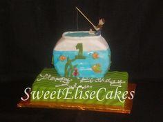 fishing themed smash cake idea