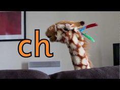 Geraldine the Giraffe learns /ch/ sound - YouTube