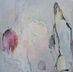Annette van de Vegte verwelkte tulpen acryl en papier op doek 80x80 cm, 2011