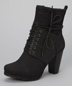 Look what I found on #zulily! Black Melissa 02 Boot by I Heart Footwear #zulilyfinds