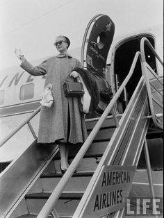 Grace Kelly Boarding an American Airlines Plane, LIFE Magazine