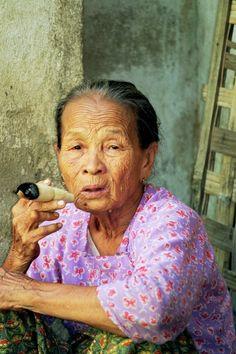 An old lady in Myanmar www.odysseymyanmar.com