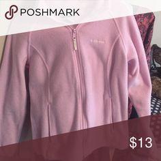 Columbia women's zip up jacket light pink Great condition women's size LG sip up jacket Columbia Jackets & Coats