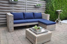 Fijne  relaxte loungebank voor in de tuin. Kijk ook naar de andere pins, je zit dat alles mogelijk is in elke tuin.