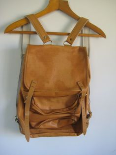 Vintage Beckmann Leather Norwegian Day Pack by MoneypennysVintage, $65.00