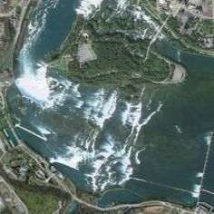 Google earth satellite map view of Niagra falls, Canada, US | Milloz Satellite Maps, Earth From Space, Planets, City Photo, Fall, Google, Water, Outdoor, Maps