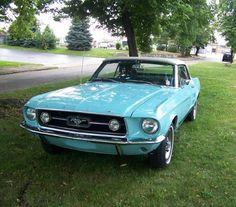 Frost Turquoise 1967 Ford Mustang GT Convertible lovelovelovelovelove! :)