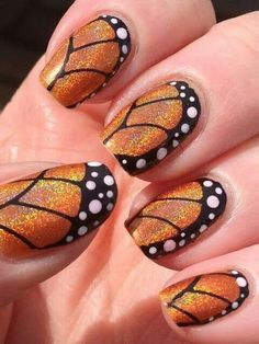 Butterfly themed nails