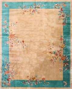 "#258 Chinese Art Deco carpet    11'9"" x 14'3"""