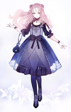 Anime picture with original long hair single tall image blush looking at viewer fringe twintails white background pink hair holding pink eyes full body spread arms puffy sleeves lolita fashion walking floating hair goth-loli Manga Kawaii, Kawaii Anime Girl, Anime Art Girl, Manga Girl, Girls Characters, Anime Characters, Lolita Gothic, Vestidos Anime, Hyanna Natsu