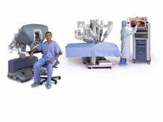 Robotic surgery using the da Vinci robot system.
