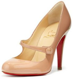 Christian Louboutin Charlene Mary Jane Red Sole Pump on shopstyle.com