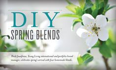 Heidi Jeanfreau, Young Living international and portfolio brand manager, celebrates spring's arrival with four homemade blends. Learn the recipes!