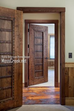 MossCreek Luxury Log and Timber Frame Homes - don\u0027t stop at your exterior door - interior doors can be special too. & 11 Affordable Ways to Add Character to Your Home | Sliding doors ... Pezcame.Com