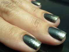 Nail Ombre with glitter