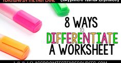 Do you struggle to make one worksheet work for your whole class? Are you trying to differentiate without pulling your hair out? I have b...