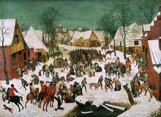 Брейгель, Питер Старший -- Избиение младенцев [The Slaughter of the Innocents] 1565-67. 111х160. Музей истории искусств Вена. Музей истории искусств