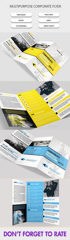 Tri-Fold Business Brochure - Corporate Brochures