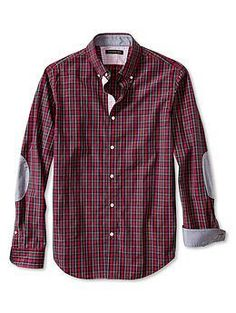 Givted-tailored slim fit soft red plaid #shirt