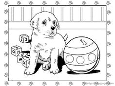 pet shop coloring pages printable | puppy coloring pages 03