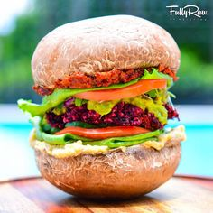 FullyRaw ~ THE EPIC SUPERSIZED FULLYRAW VEGAN BURGER! ~ The mothership has landed! Check out my new recipe here: http://youtu.be/hAiX6rMHxuQ
