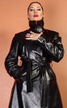 We Present an Extensive Collection of Men, Women, Celebrity, Motorcycle & Custom Leather Jackets. Great Quality, Best Value! Visit for Buy Now Long Leather Coat, Leather Trench Coat, Raincoats For Women, Jackets For Women, Trent Coat, Custom Leather Jackets, Yellow Raincoat, Leather Dresses, Celebrity Outfits