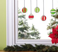 Glass Painting - Christmas Ornament Window Clings