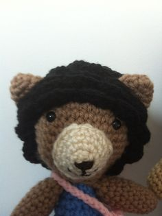 close up of fro bear
