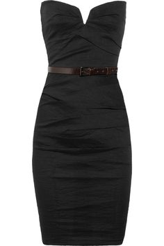 La Petite Salope Strapless Stretch Linen Blend Dress in Black ... too bad its $1015