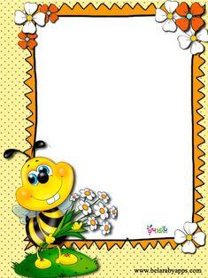 تصميم اطارات اطفال للكتابة .. اشكال روعة مفرغة للكتابة 2020 براويز للكتابة عليها ⋆ بالعربي نتعلم Frame Border Design, Boarder Designs, Page Borders Design, Art For Kids, Crafts For Kids, Bee Pictures, Boarders And Frames, Kids Background, Bee Art