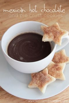 mexican hot chocolate and pie crust cookies!