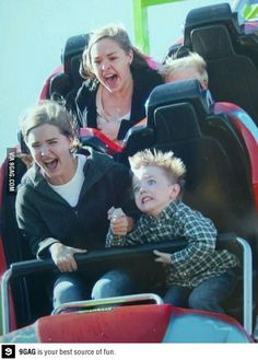 Someone is not enjoying the ride