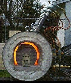 diy propane forge | inside the forge to reduce the forge chamber dimensions to