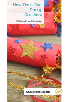 Make your own Party Crackers for your New Years Eve party. Find out how to make them and ideas on what to fill them with. These will add a fun element to your party. #PartyCrackers #NewYearsEve #PartyFavors #Tutorial
