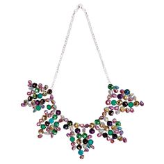 Give your summer look a bright vibe with this beautiful colorful rhinestone necklace. Less than $29.00