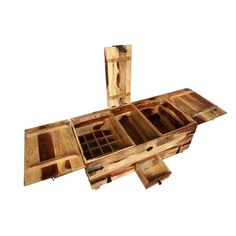 wooden coffee table traditional 12 drawers storage sheesham wood
