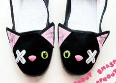 Zombie cat slippers!