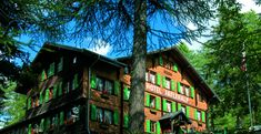 home   Hotel Fafleralp recommended by Allison. closed in Nov Bergen, Switzerland, Cabin, House Styles, Home Decor, Double Room, Woods, Decoration Home, Room Decor