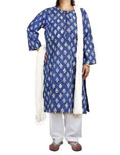 Blue Kameez White Salwar Dupatta Indian Fashion for Women Size XL ShalinIndia,http://www.amazon.com/dp/B00DXZII3K/ref=cm_sw_r_pi_dp_mnm-rb09E8DV8WBP