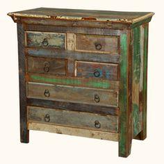 Reclaimed Wood Rustic Bedroom Dresser