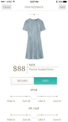 Stitch Fix Item: Fate Fischer Sueded Dress #stitchfix