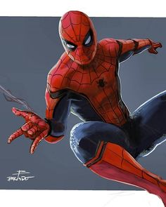 Let's start 2017 off with some awesome Spidey art. Digitally painted by artist @bradoart