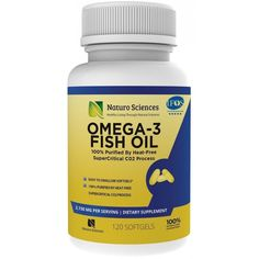 Omega 3 Fish Oil Triple Strength 1700mg EPA 900mg DHA 600mg 120ct 60 Day Supply #NaturoSciences