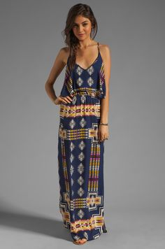 Eight Sixty Tribal Maxi in Navy & Multi | REVOLVE